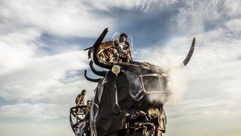 Toro gigante para eventos y ferias