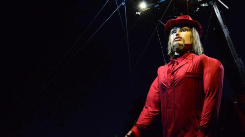 marioneta gigante para espectáculos