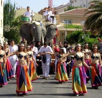 carroza alefante para desfile