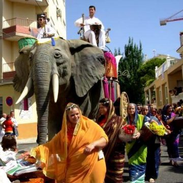 carroza elefantes para eventos