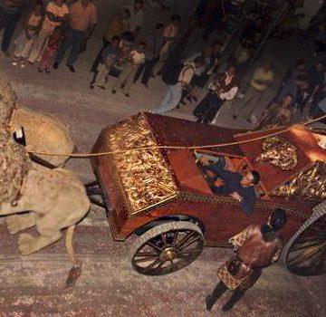 carroza encabezada por leones