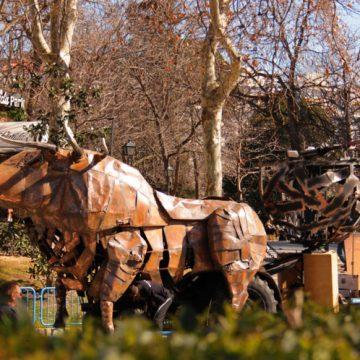carroza para desfile toro