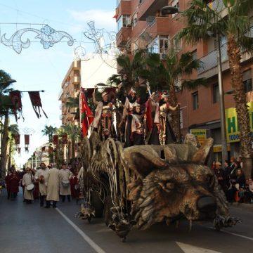 carroza para desfiles lobo carnassier