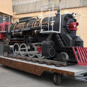 carroza tren a vapor para desfiles