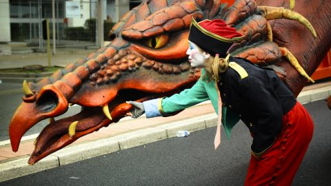 dragón para desfiles