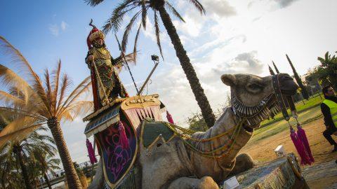 escultura Camella Nana para desfiles