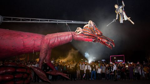 escultura articulada dragon