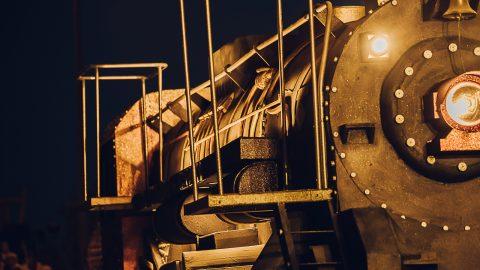 máquina de tren a vapor