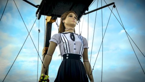 marioneta articulada para desfiles