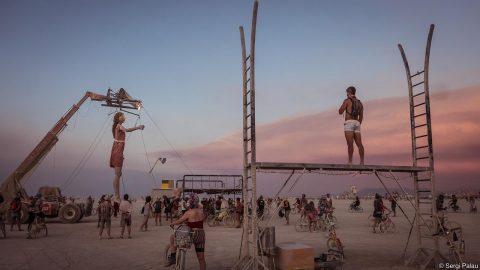 marioneta gigante euterpe para eventos