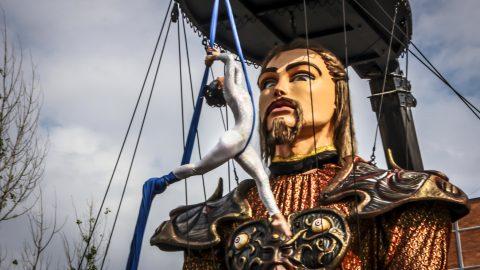 marioneta gigante para eventos