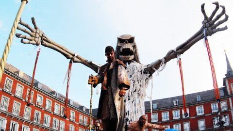 pirata gigante móvil para desfiles